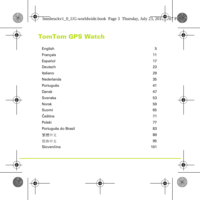 tomtom watch instructions