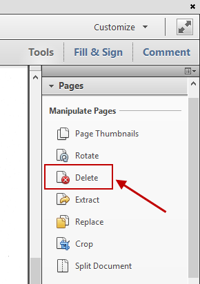 page remove from pdf