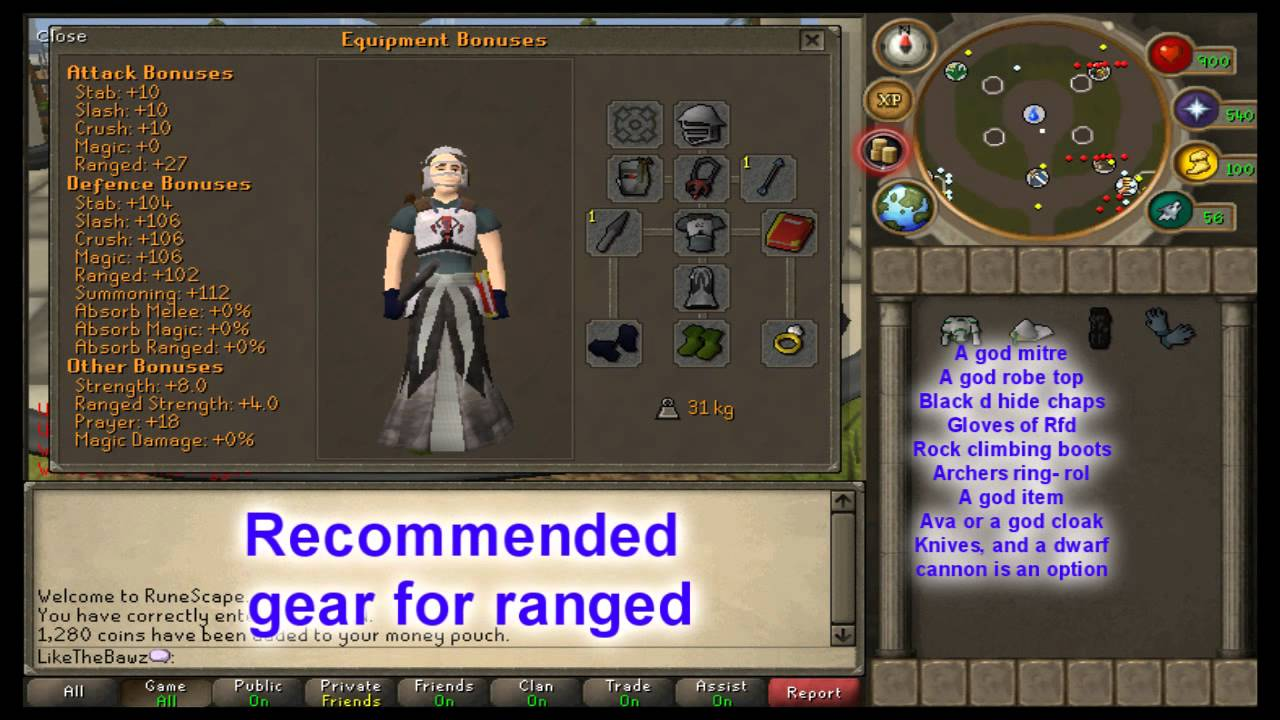 osrs pure range guide 2018