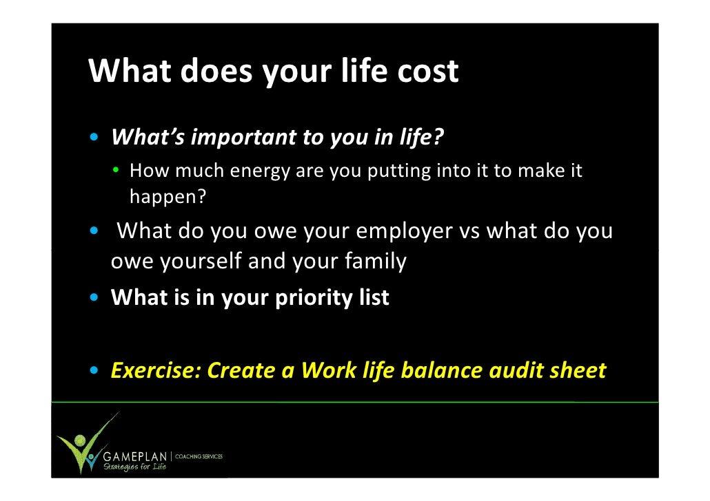 work life balance pdf