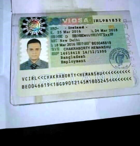 sample of fake us visa