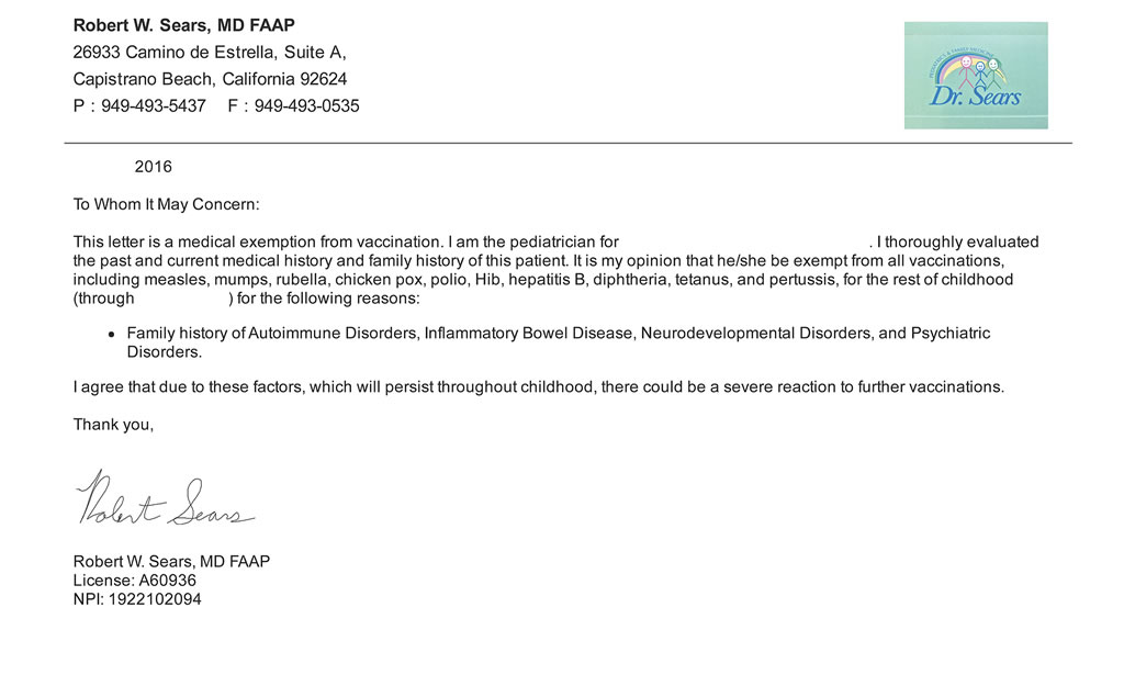 sample paediatric clinic letter