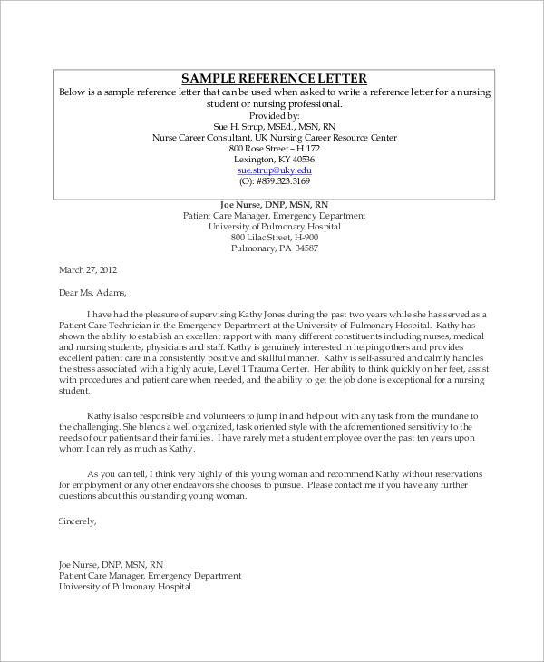 referral in job application