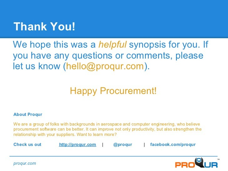 the procurement guide