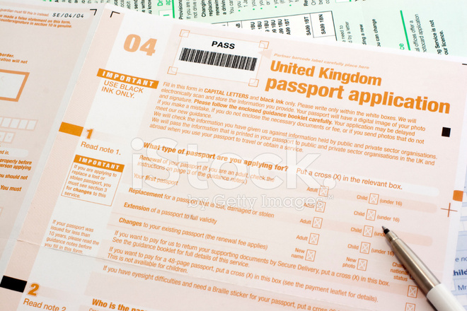 passport application form post office