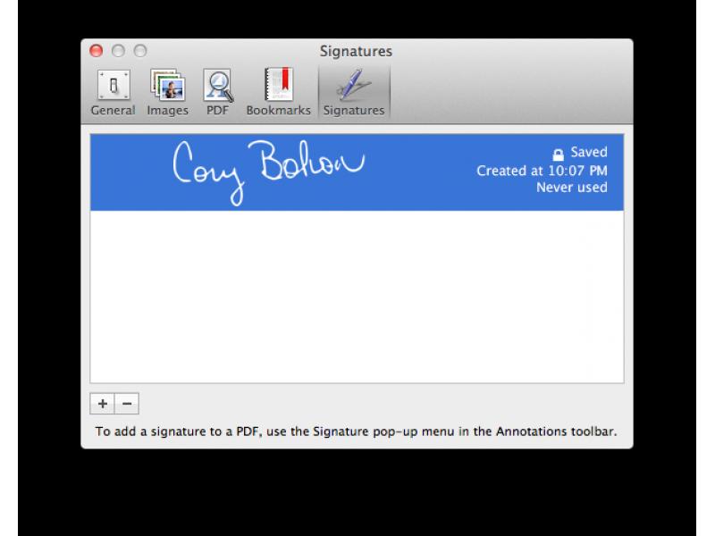 sign pdf mac