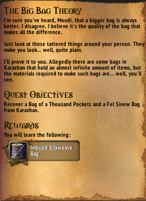 return to karazhan the big bag theory guide