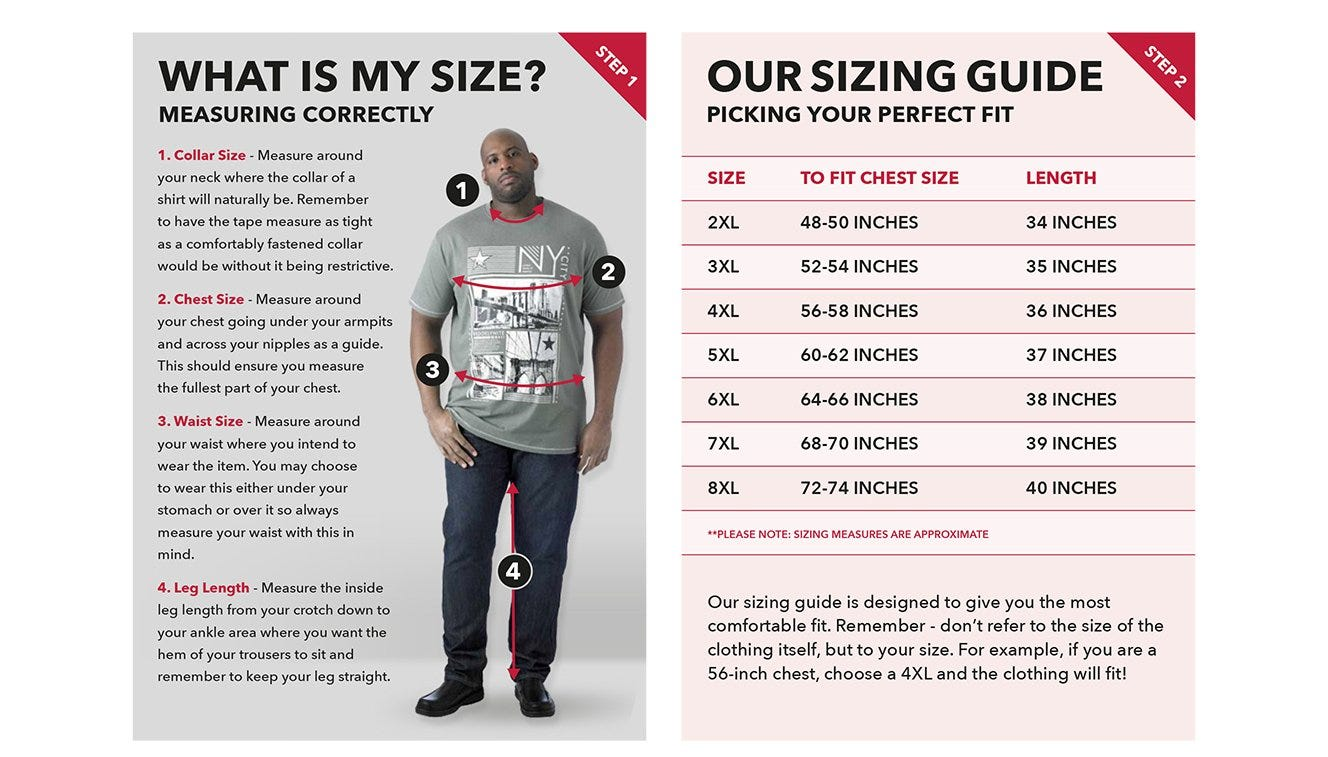 mens size guide uk jeans