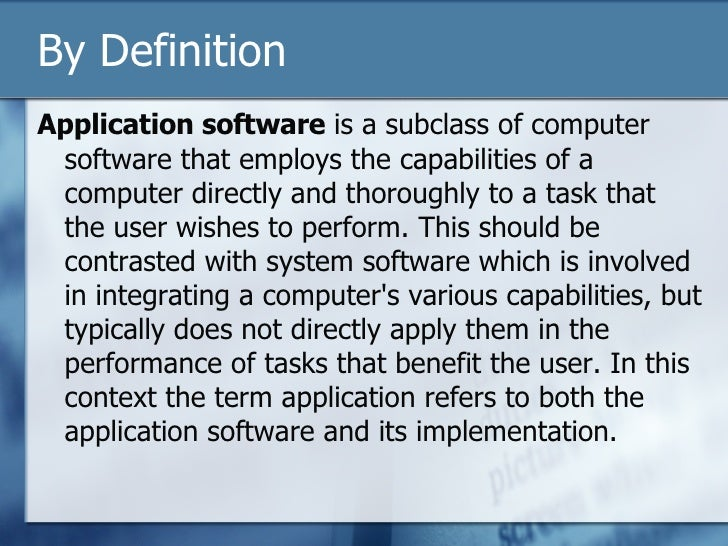 what is application program