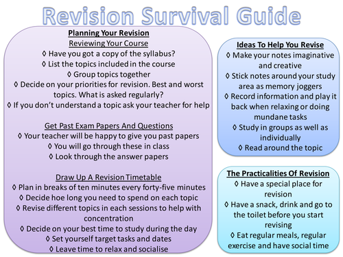 survival guide examples