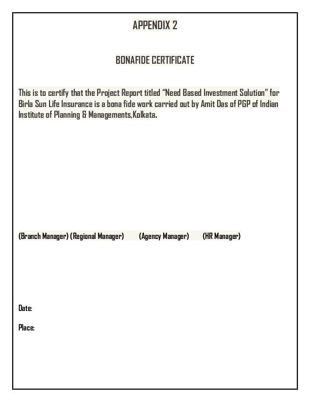 sample bonafide certificate for opening bank account