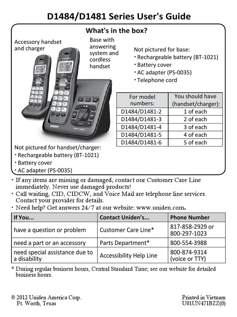 uniden dect 3115 user manual