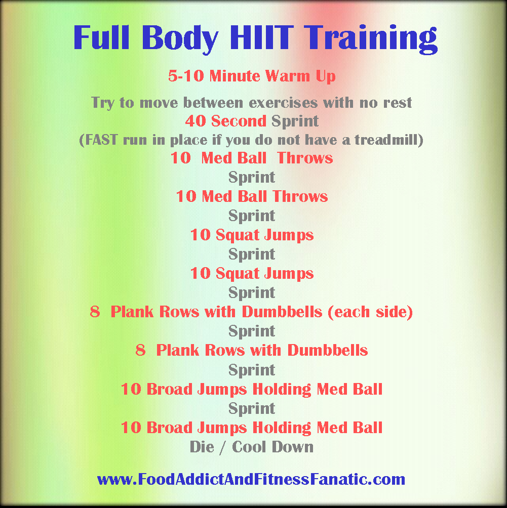 sample hiit workout