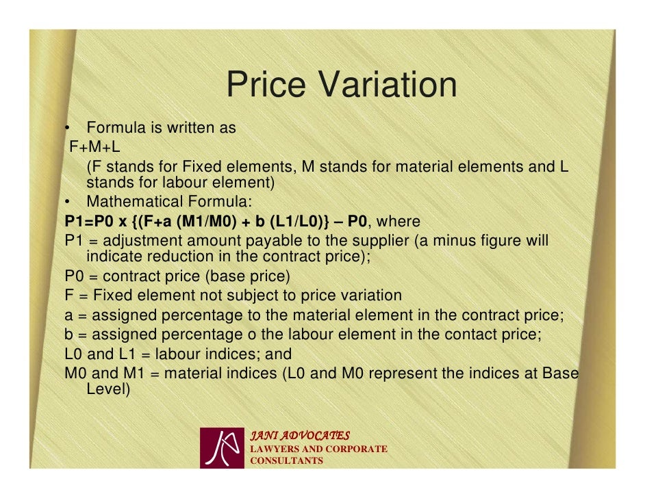 sample material price escalation clause
