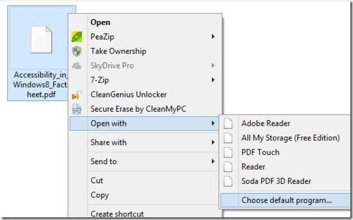 set pdf default