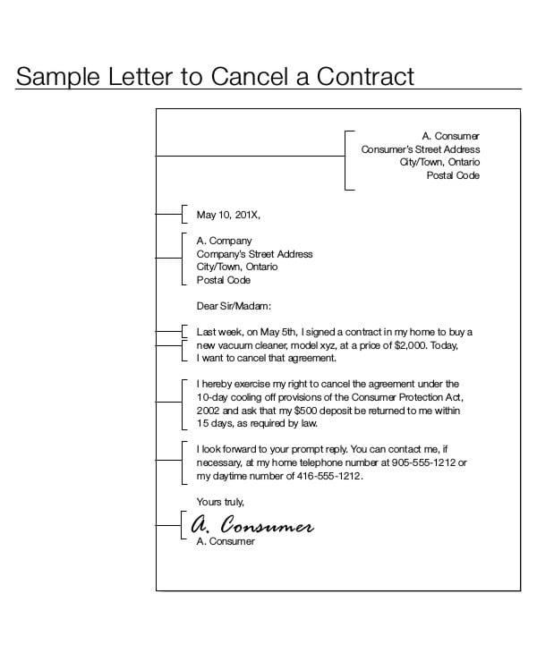 sample obligation letter