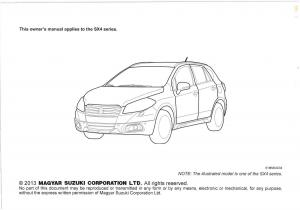 suzuki s cross owners manual
