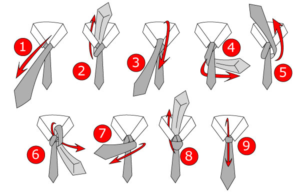 windsor tie knot instructions