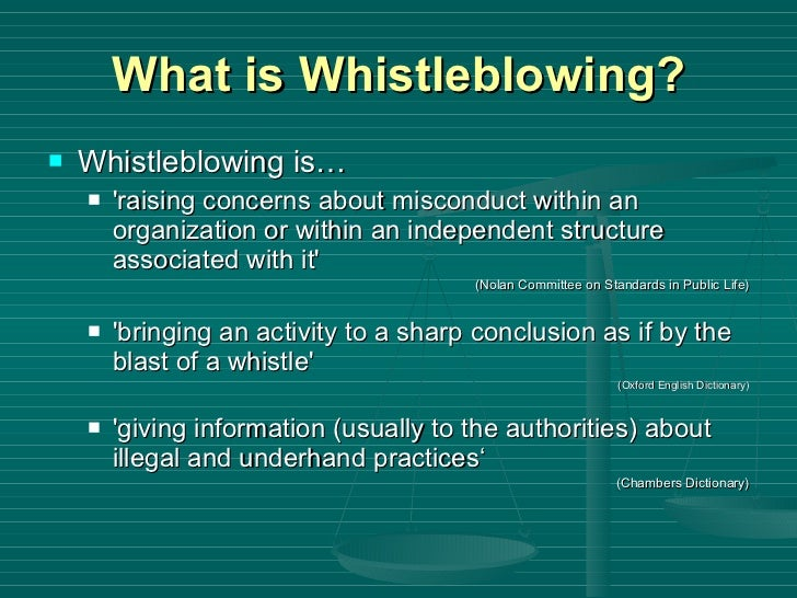 whistleblower dictionary