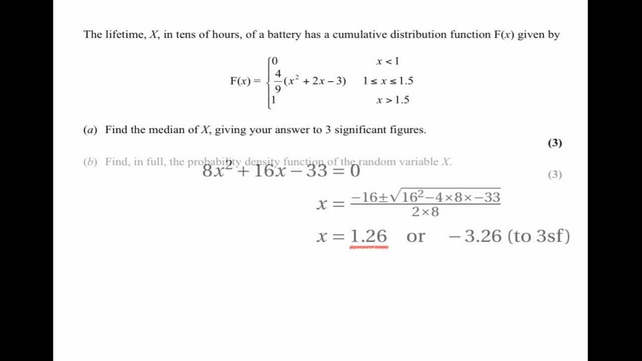 random variable pdf