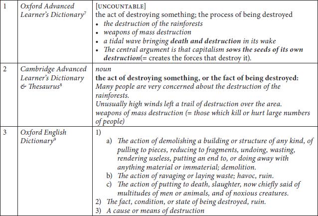 meta awareness dictionary