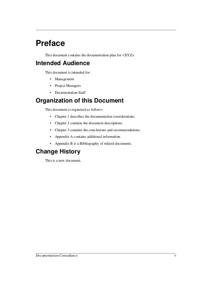 sample preface for thesis documentation