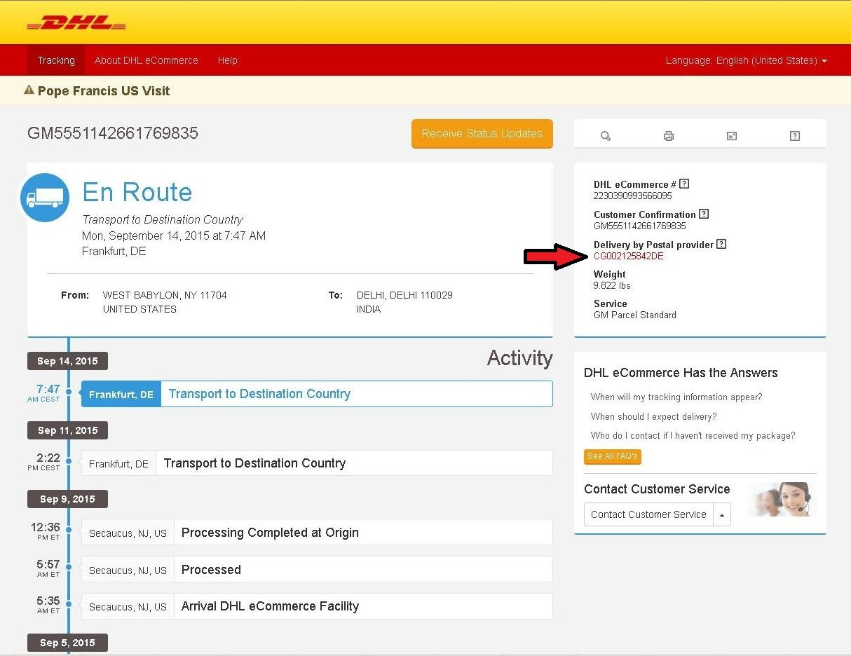 sample tracking number for india post