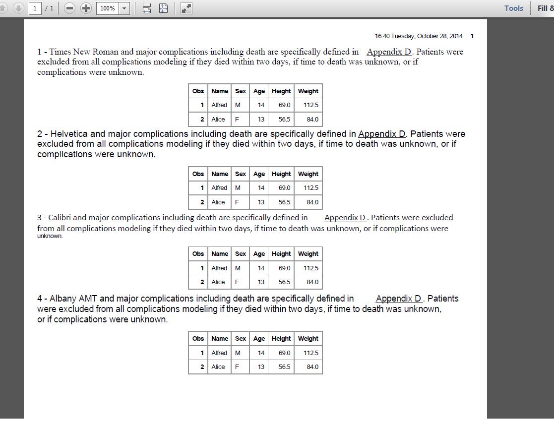 sas workout pdf