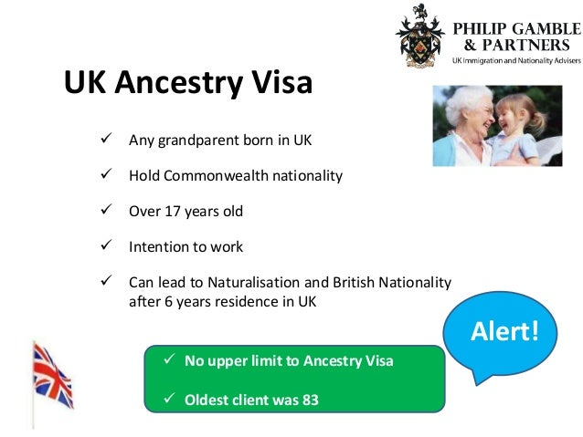 uk ancestry visa application