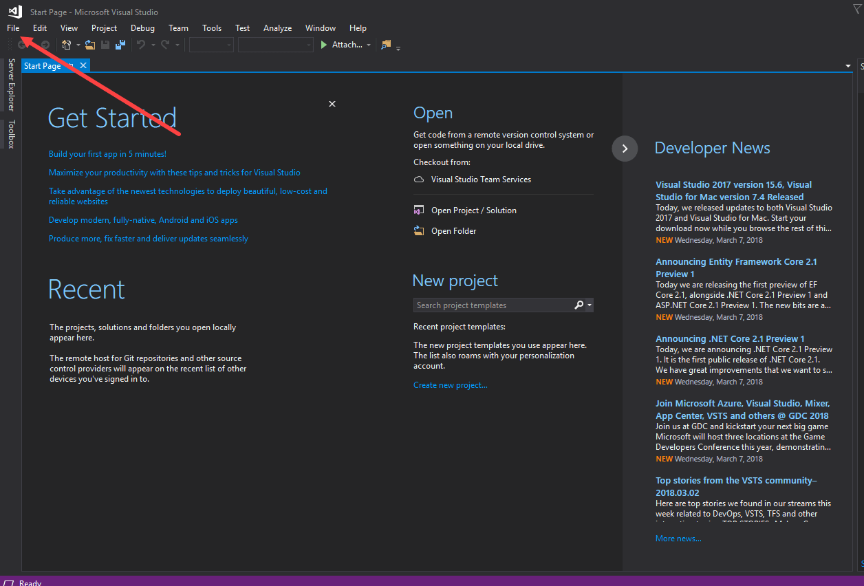 visual studio create application to run in background